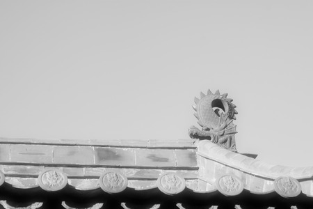 architectural style: roof of the traditional Chinese architectural style, north china