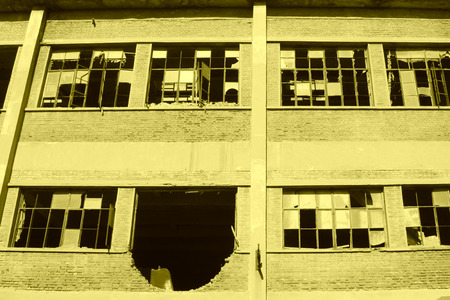 restore ancient ways: abandoned factory workshop, tangshan city, hebei province, China. Stock Photo