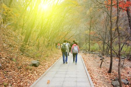 irradiation: BENXI CITY- OCTOBER 12: GuanMenShan scenic spot tourists, on october 12, 2014, Benxi City, Liaoning Province, China