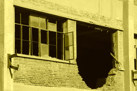 tangshan city: abandoned factory workshop, tangshan city, hebei province, China.  Editorial