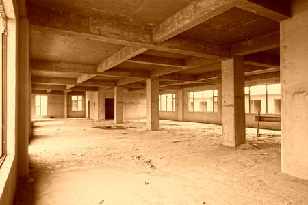 unfinished: unfinished concrete hall