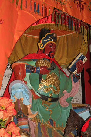 duke: Chinese portrait, duke guan statues, closeup of photo