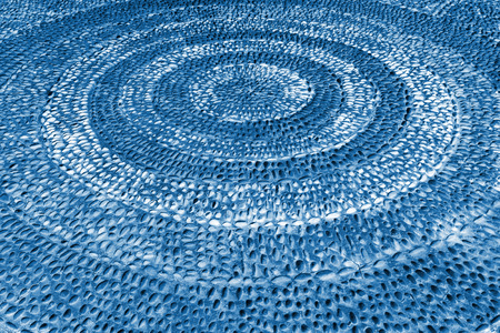 concentric: concentric circles landscape in a park north china Stock Photo