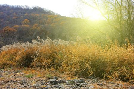 irradiation: GuanMenShan scenic natural landscape, Benxi City, Liaoning Province, China Stock Photo