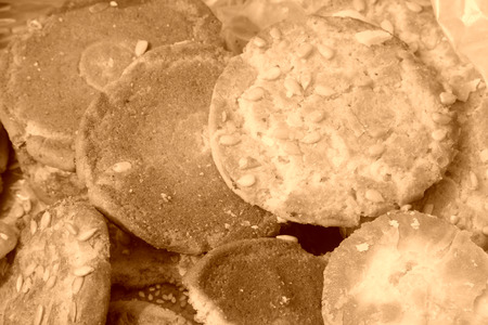 flaky: Chinese traditional food, flaky pastry, closeup of photo
