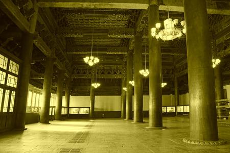 droplight: PECHINO - 22 dicembre: La colonna e droplight chiuso nel Tempio Ancestrale ed Imperiale, il 22 dicembre 2013, Pechino, Cina.