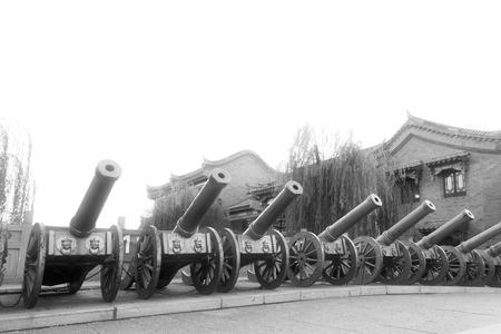 etiquette voyage: Comté de Luan - 10 novembre: Les rangées de canon, le 10 Novembre 2013, le comté Luan, province du Hebei, en Chine.