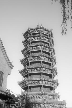 purple metal: LUAN COUNTY - NOVEMBER 10: The Purple Metal Tower building landscape, November 10, 2013, Luan county, hebei province, China.