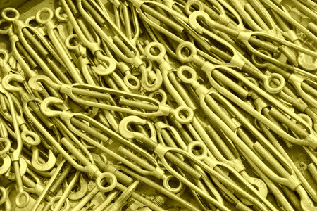 fasteners: metal parts and fasteners, closeup of photo