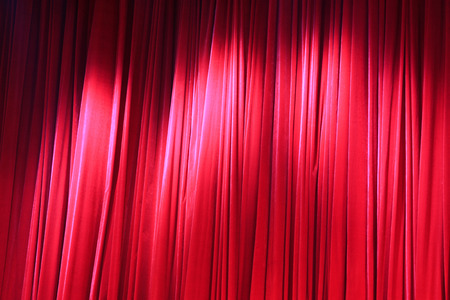curtain background: Red curtain, closeup of photo