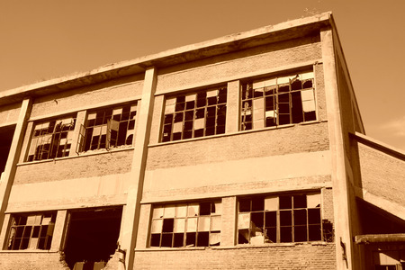 tangshan city: abandoned factory workshop, tangshan city, hebei province, China. Stock Photo