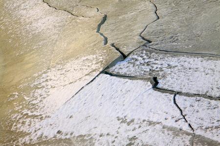 craze: ice cracked in the wild Stock Photo