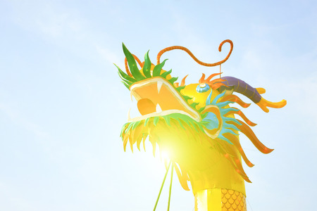 papery: Chinese style dragon leading paper works, closeup of photo
