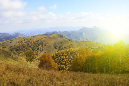 irradiation: mountain natural scenery, closeup of photo