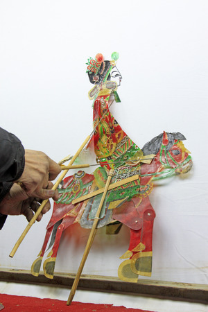 nonphysical: Chinese shadow play figures