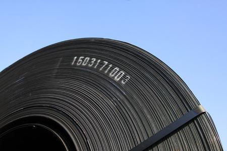 elasticidad: fleje de acero, de cerca de foto