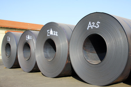 standard steel: strip steel, closeup of photo