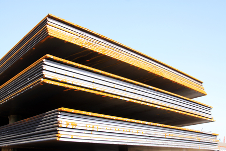 steel plate: Steel plate in a goods yard, closeup of photo