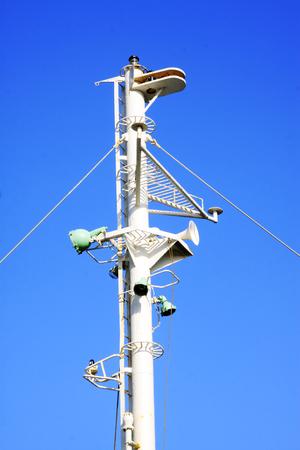 signal device: Cargo ship signal device, closeup of photo