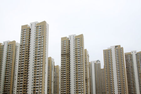 completed: newly completed high-rise office buildings, tianjin, China