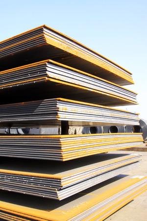 steel plate: Steel plate in a goods yard
