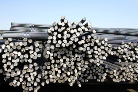 features: steel bar cross section features, closeup of photo Stock Photo