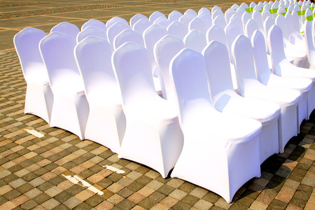lustre: White chair, closeup of photo