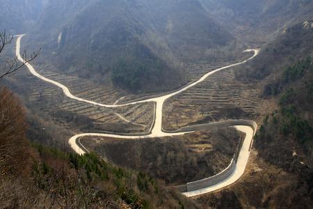 twists: Winding mountain roads scenery, closeup of photo