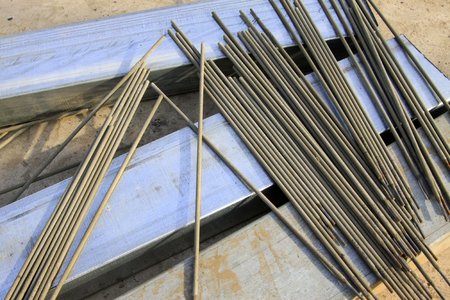 electrode: Welding electrode, closeup of photo Stock Photo