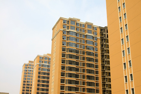 feature wall: Beige buildings, closeup of photo