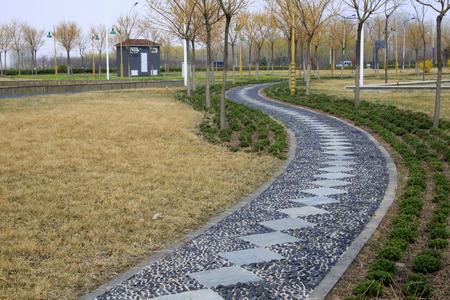 stone path: Diamond stone path, closeup of photo Stock Photo