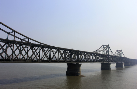 The China and North Korea Friendship Bridge  architecture, dandong city, liaoning province, China