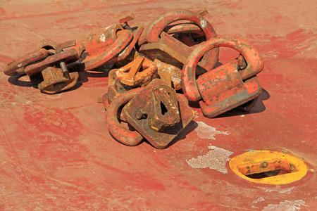 oxidize: oxidize cargo deck cards, closeup of photo Stock Photo