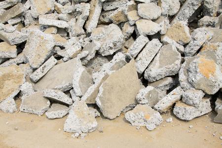 debris: abandoned buildings debris, closeup of photo