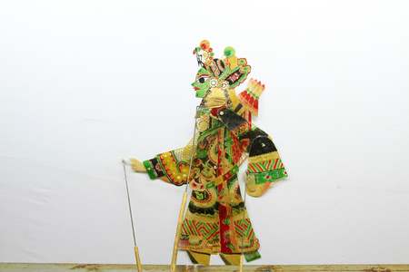 restore ancient ways: Chinese shadow play props,closeup of photo