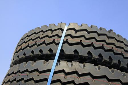 Brand new tires, closeup of photo Stock Photo