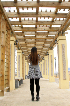 lighting fixtures: Park Colonnade and Lady figure, closeup of photo Stock Photo