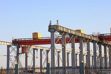 steel beam: Factory steel beam under construction