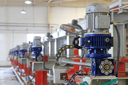 ceramic production machinery and equipment in a factory