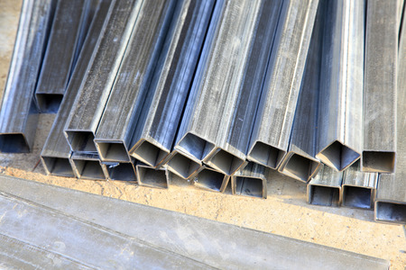 alloy: Aluminium alloy tubes, closeup of photo