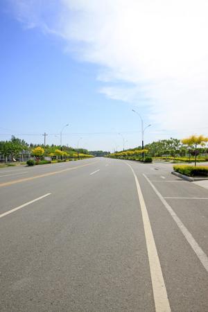 greening: Road and greening Stock Photo