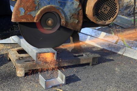 alloy: saws for cutting aluminum alloy, closeup of photo Stock Photo