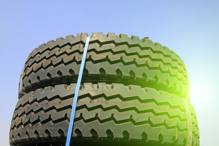friction: Brand new tires, closeup of photo Stock Photo
