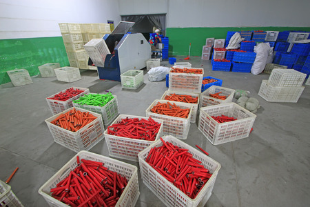 spindles: spindles roller in the workshop, luannan county, hebei province, China