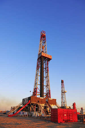 oilfield: Jidong oilfield - February 8: oil drilling derrick, on February 8, 2016, jidong oilfield, caofeidian, hebei, China Editorial