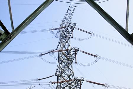isolator high voltage: Electric power equipment, closeup of photo Stock Photo