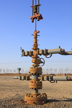 damage control: Oil pipeline and equipment, closeup of photo