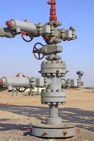 petroleum pipeline in the wild, closeup of photo