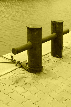 parking facilities: mooring pier in a corner of the port