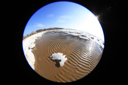 sea ice natural scenery in winter Stock Photo